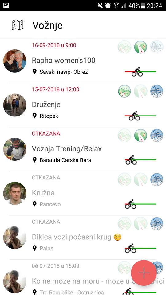 aplikacija pedaliranje
