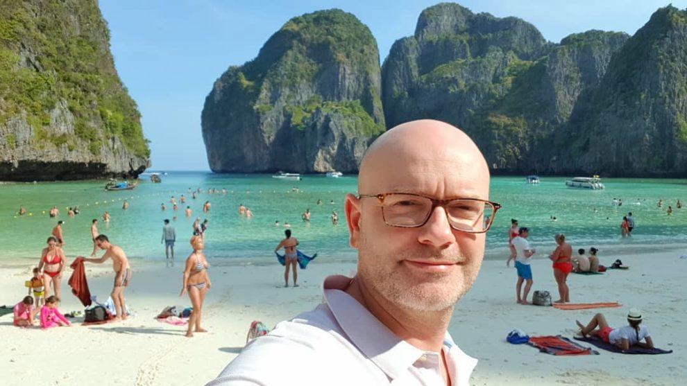 Zoran Đukanović, ostrvo Phi Phi, zaliv Maja (Maya Bay)