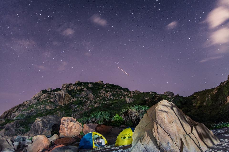 Kampovanje, zvezdano nebo