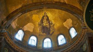 Aja Sofija konstruisana je u 6. veku kao pravoslavna patrijaršijska bazilika u Vizantijskom carstvu