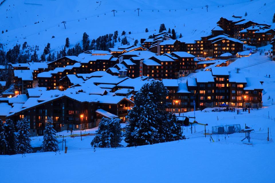 Alpi, skijanje, rizort, planine