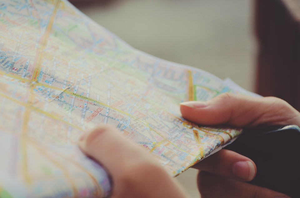 Mapa, turista