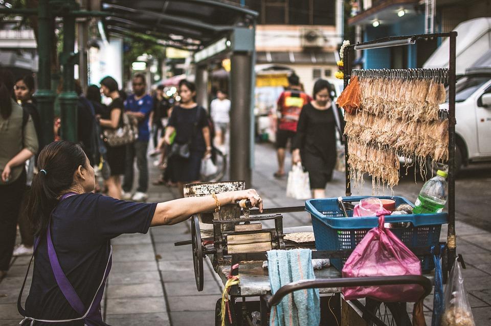 Bangkok, Ulični prodavci, Tajland