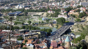 Tbilisi, Gruzija, panorama