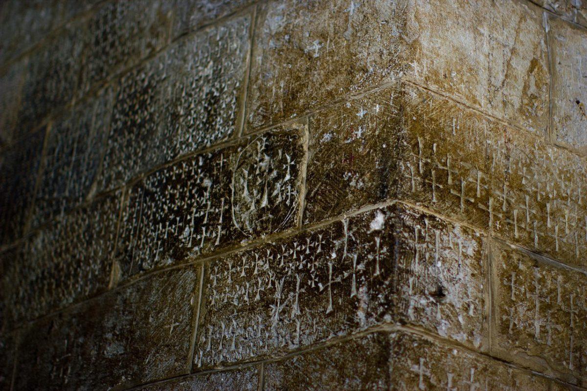 Jerusalim, grafiti Krstaša