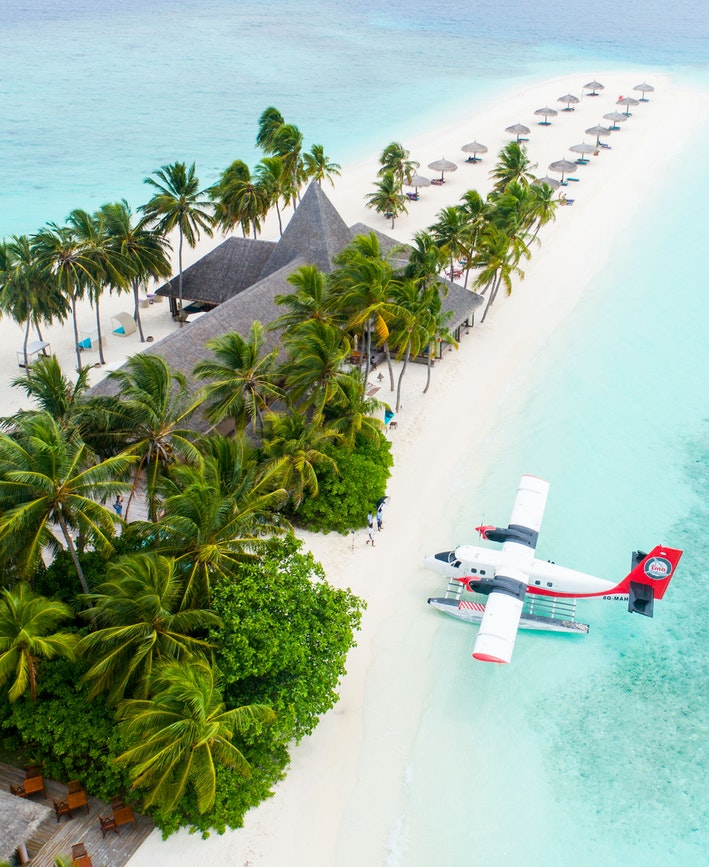 Plaža, avion