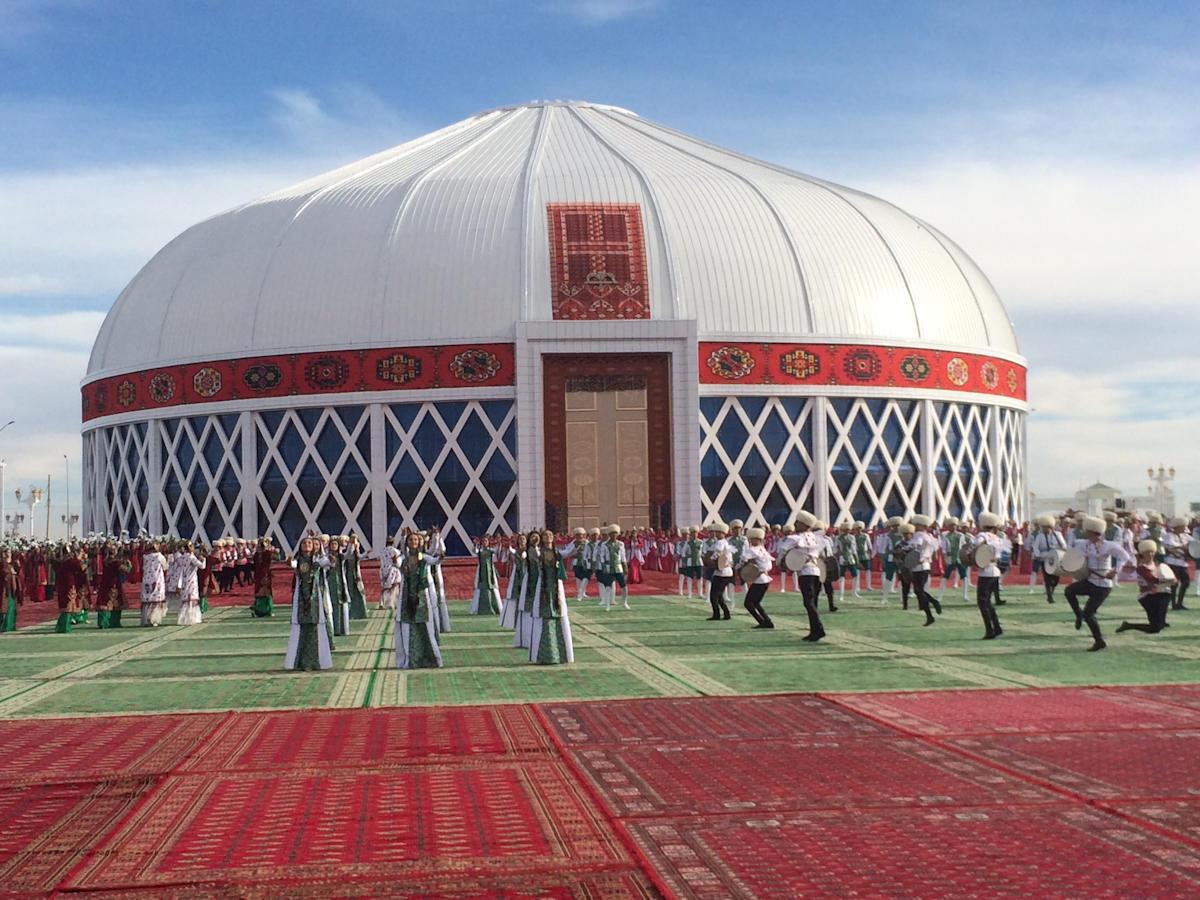 Najveća jurta na svetu, 10 kilometara od grada Mari, u Turkmenistanu