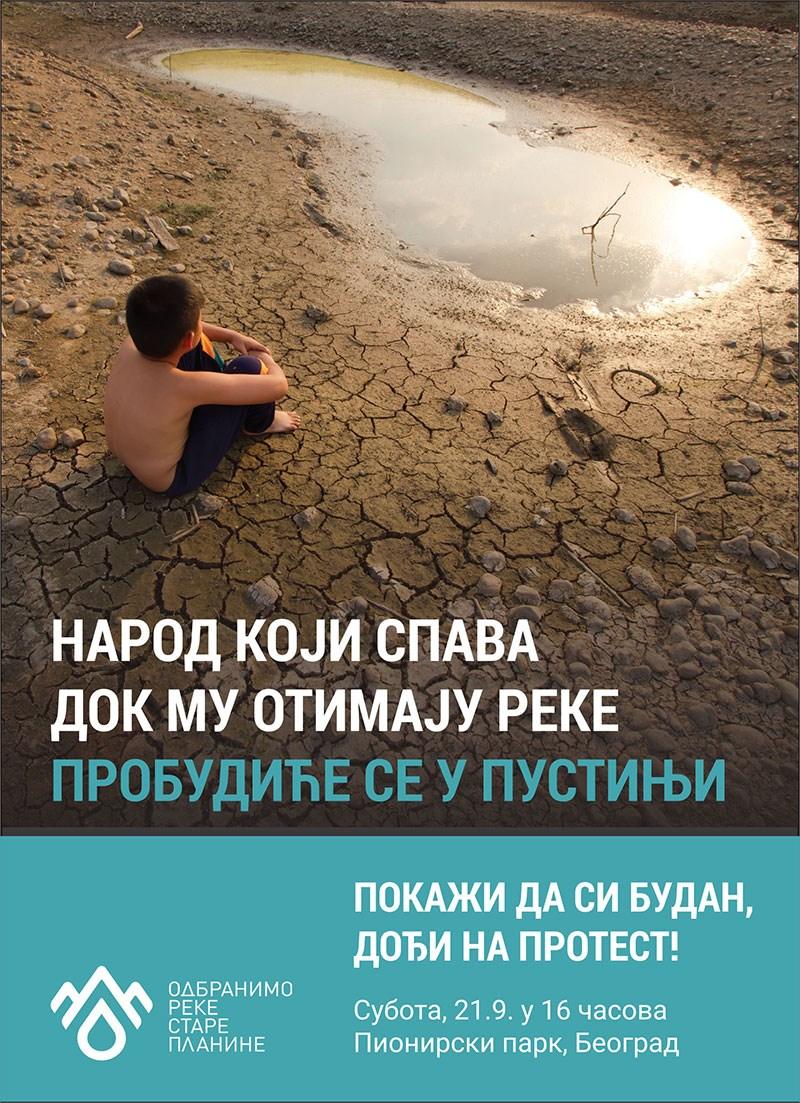 Protest protiv izgradnje mini hidroelektrana