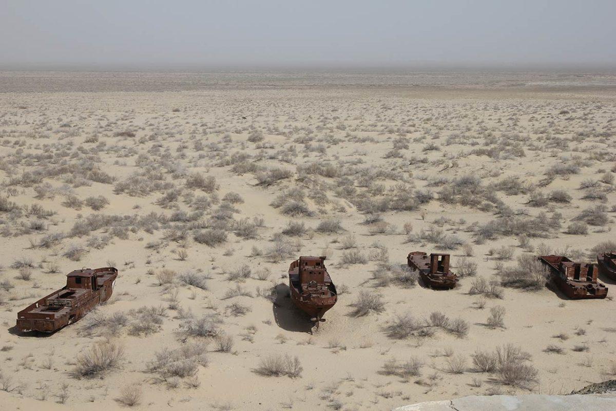 Aralsko more u Uzbekistanu, danas slana pustinja, foto: Ivana Nešić