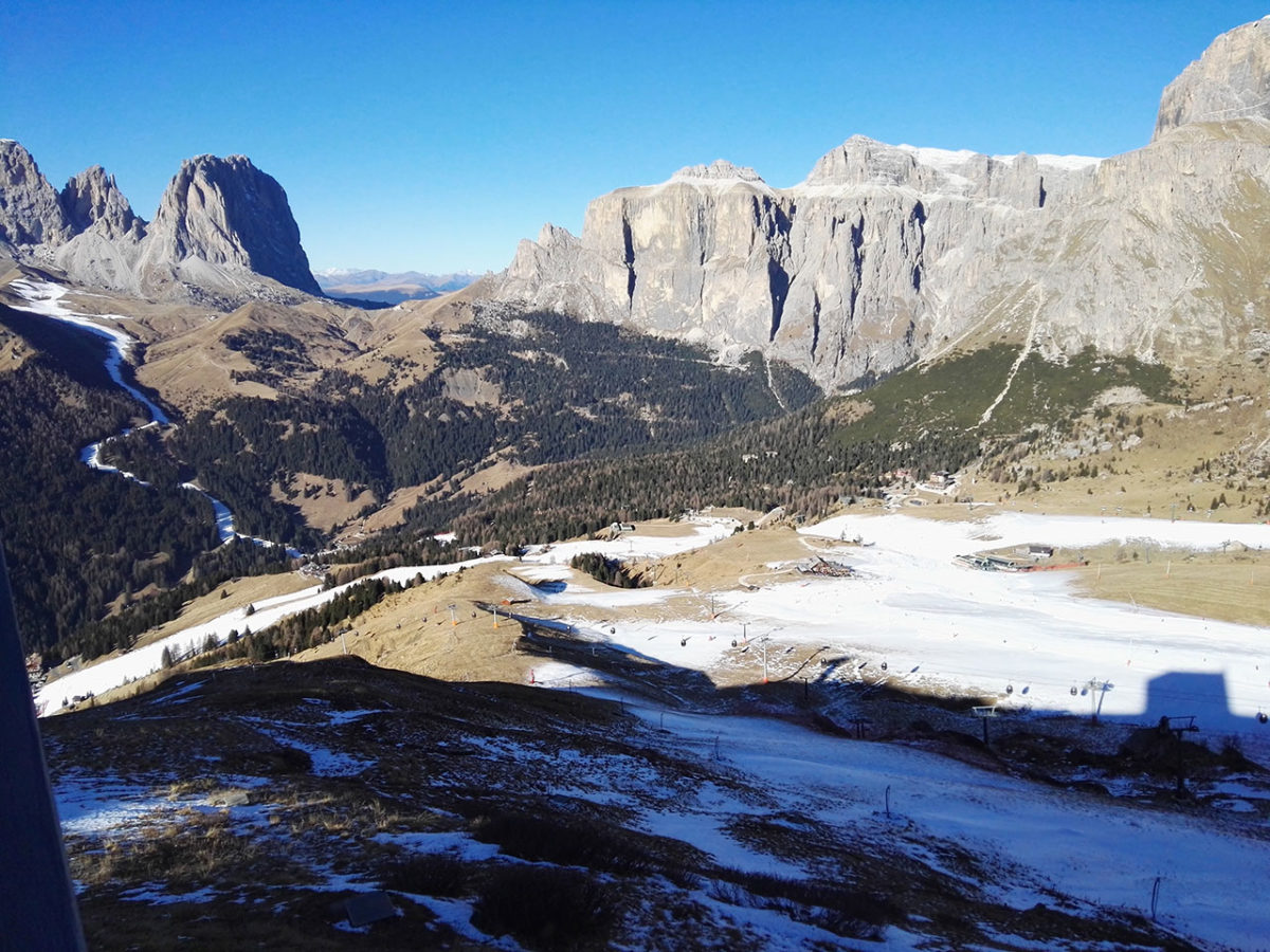 Val Gardena u Dolomitima, Pecina omiljena zimska destinacija