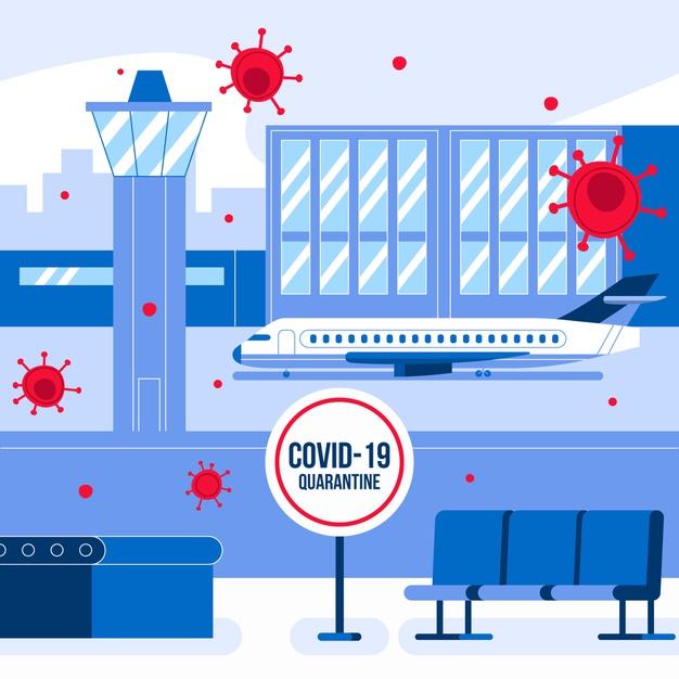 aerodrom, putovanja, korona