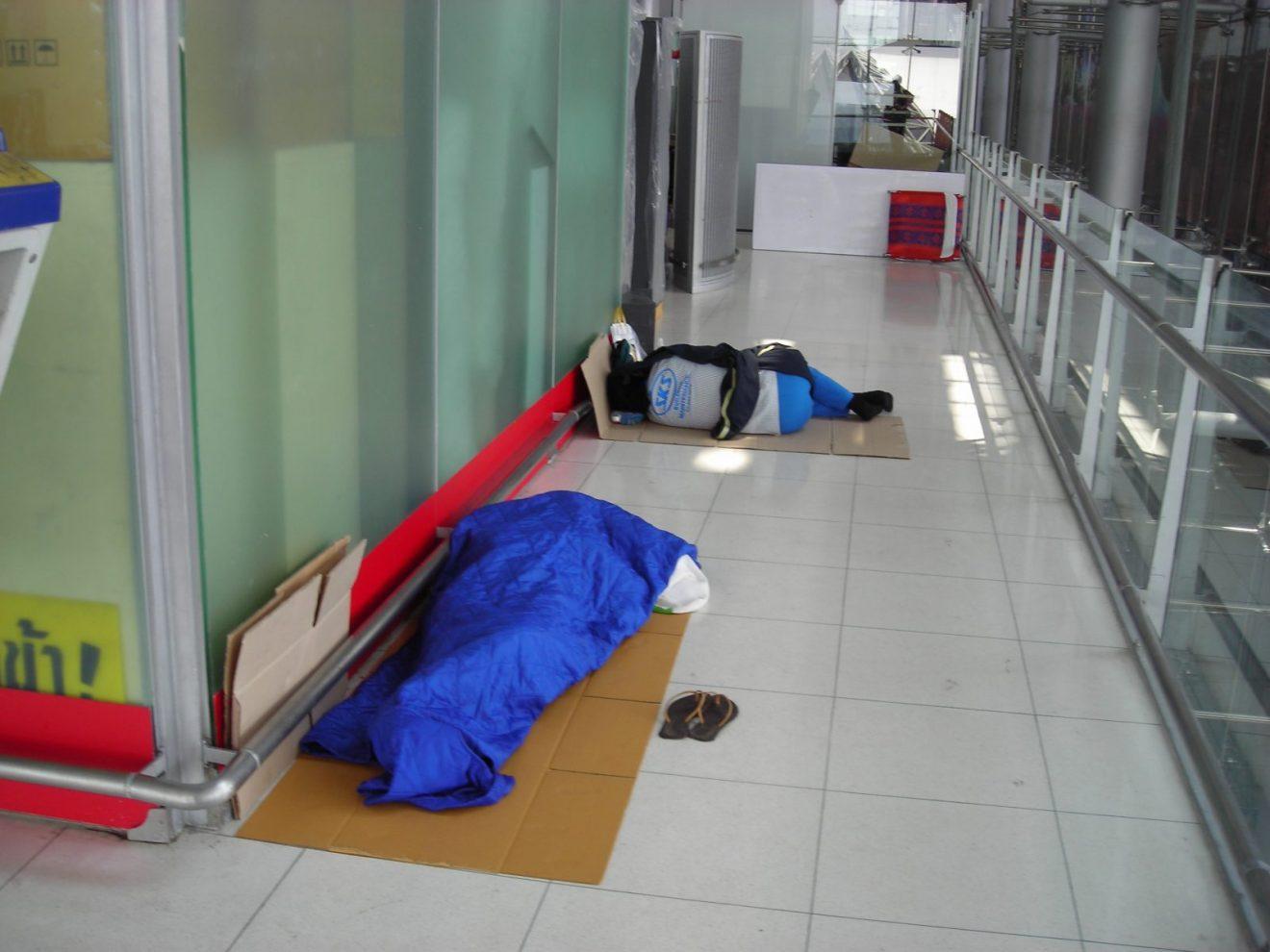 Vreća je dobra stvar npr. za spavanje na javnim mestima