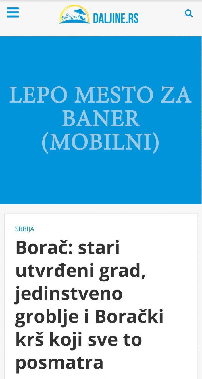 Daljine.rs mobilni banner