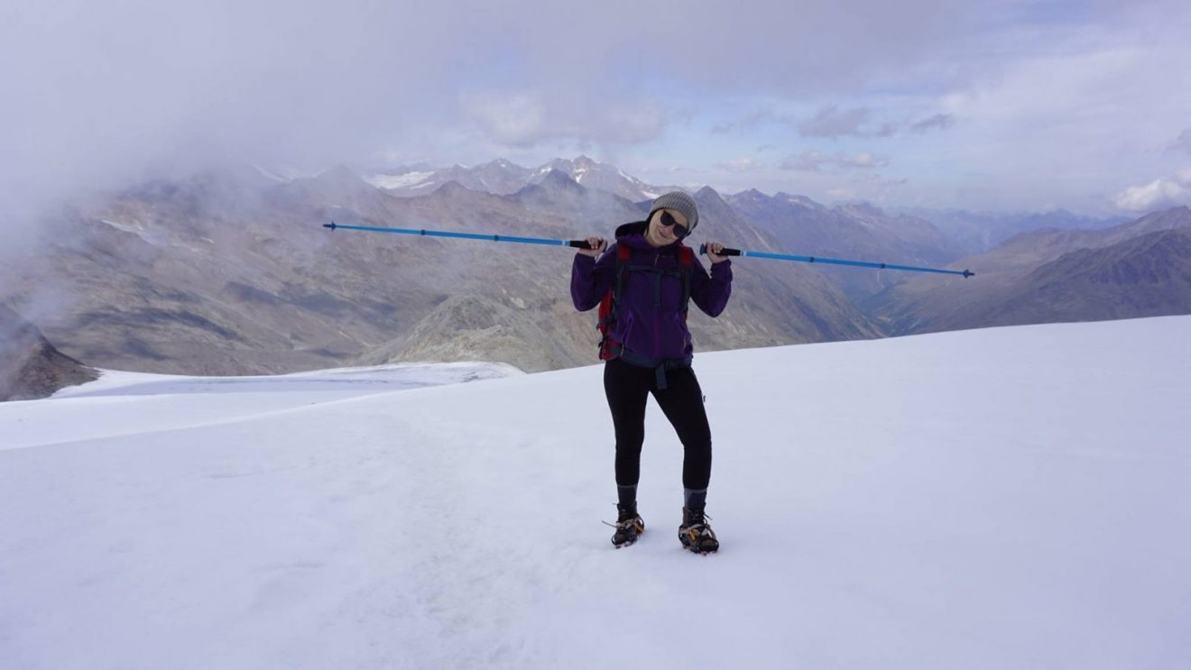 Jelena Raketić na vrhu Similaun
