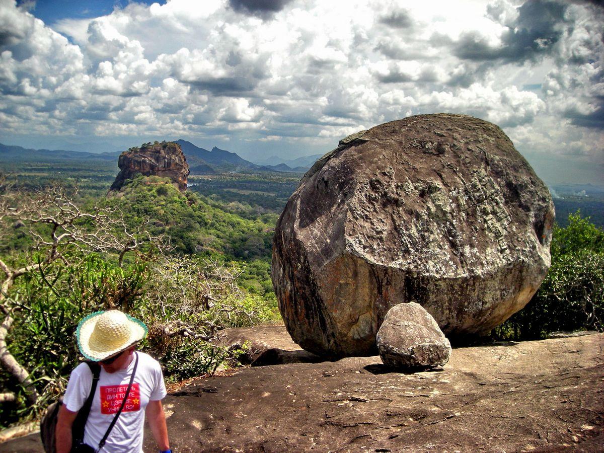 """Pidurangala, Cejlon, pogled na Sigiriju, gde su Duran Duran snimali spot """"Save a prayer"""""""