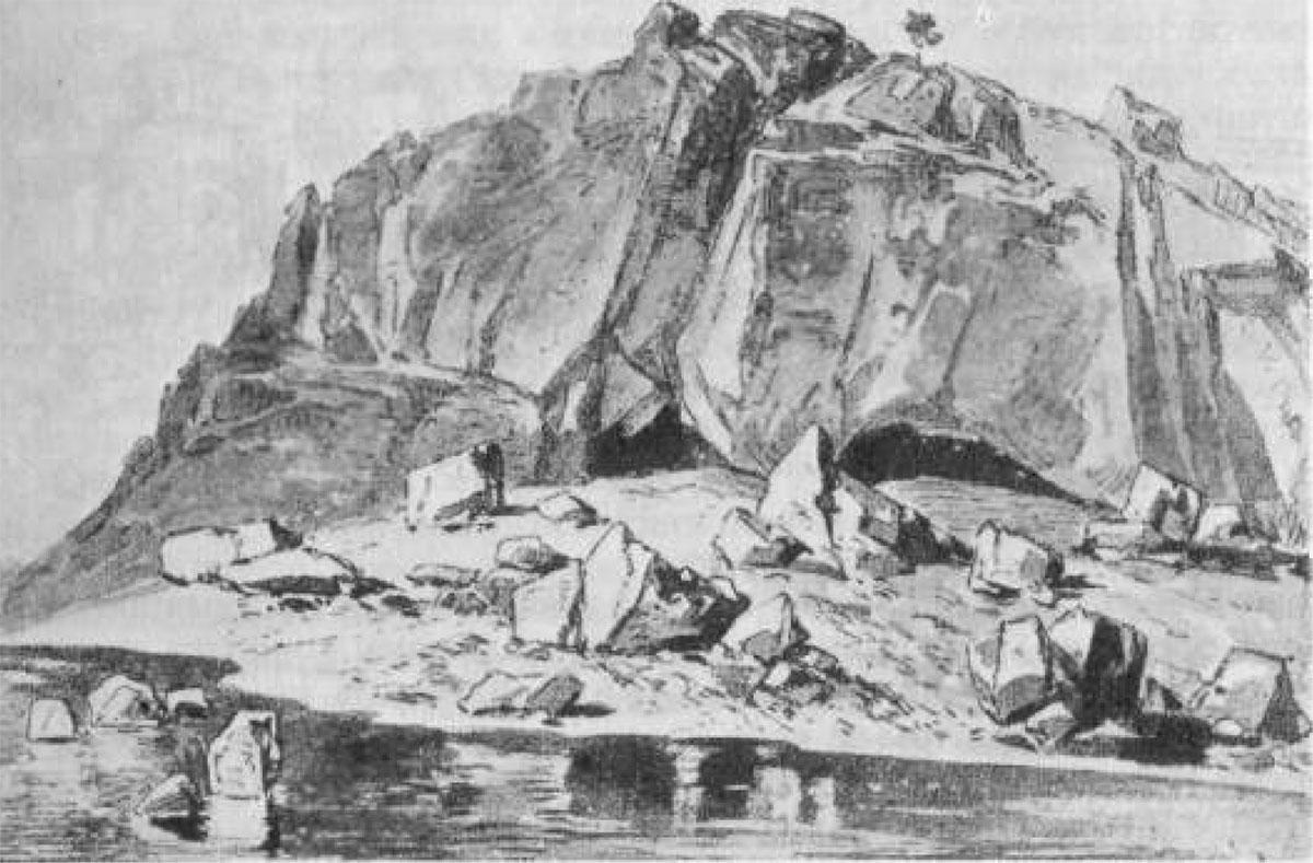 Lazareva pećina s početka 20. veka - Ilustracija iz knjige Feliksa Kanica