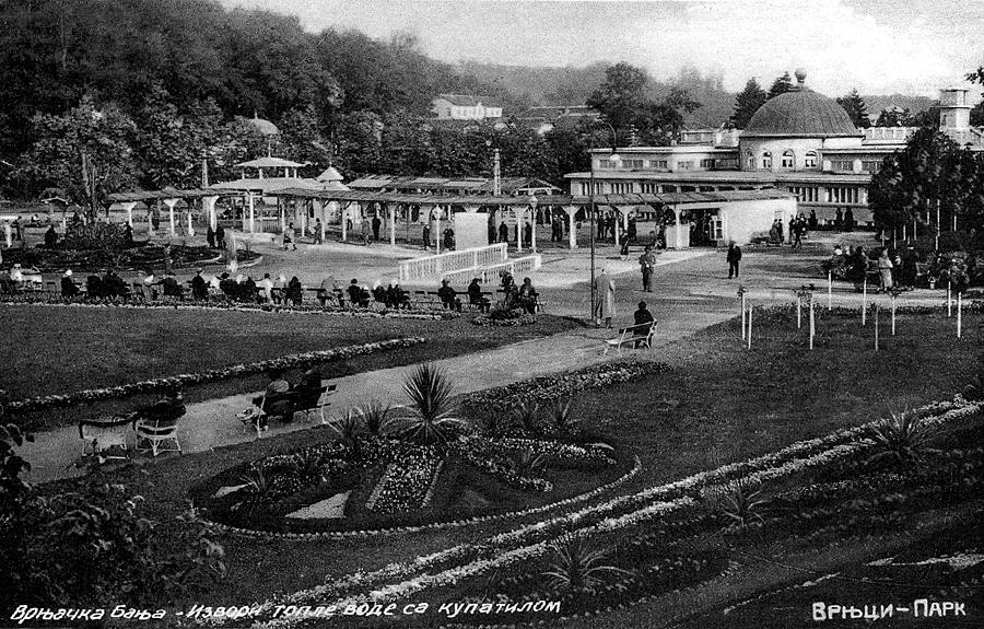 Park Vrnjci u Vrnjačkoj Banji 1935. godine, nepoznat autor fotografije