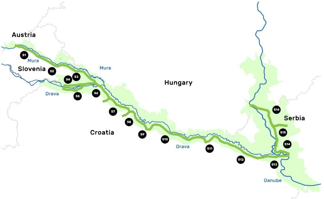 Amazon of Europe Bike Trail, južna biciklistička ruta