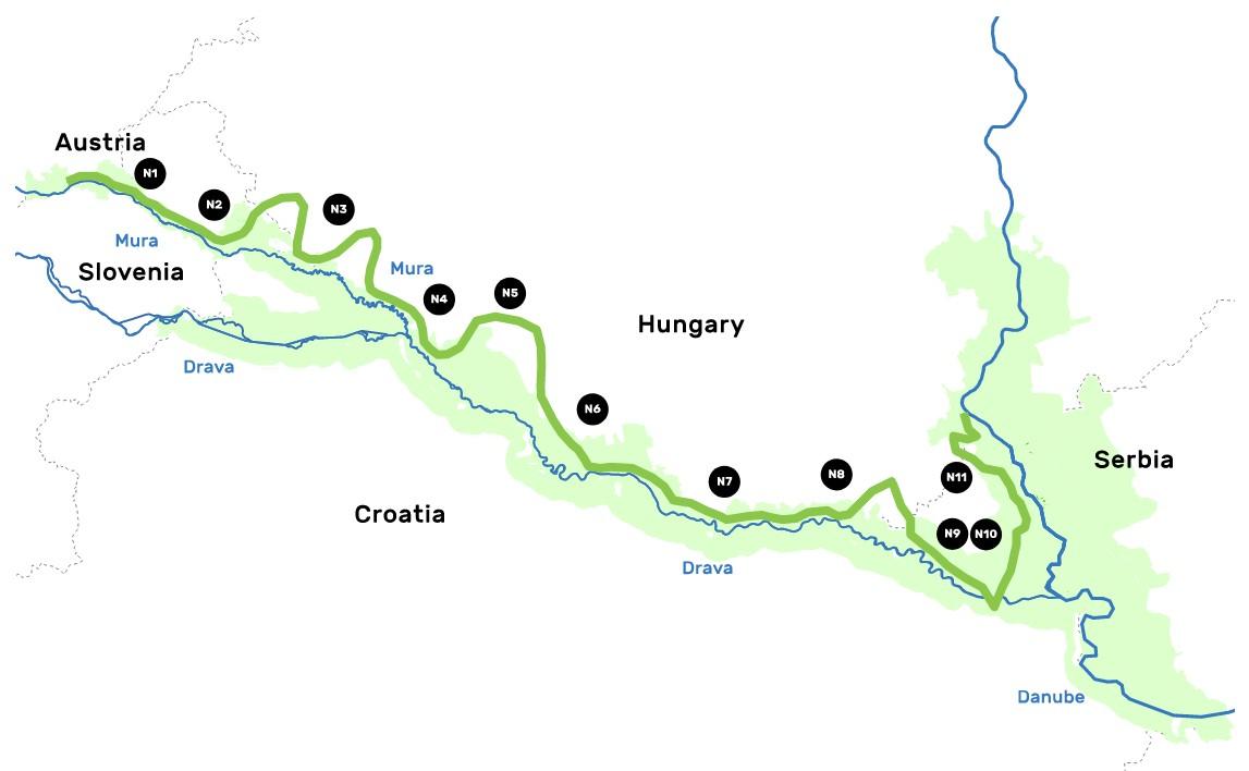 Amazon of Europe Bike Trail, severna biciklistička ruta
