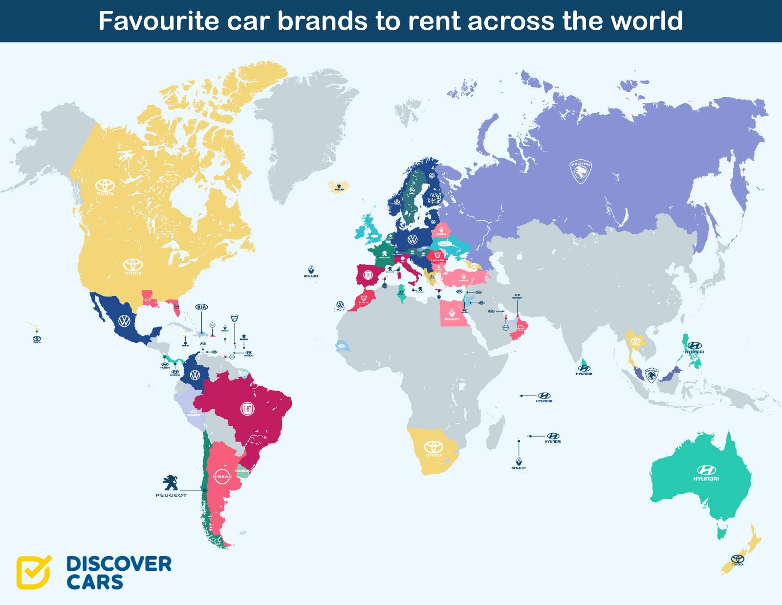 Najpopularnije marke automobila za rent-a-car
