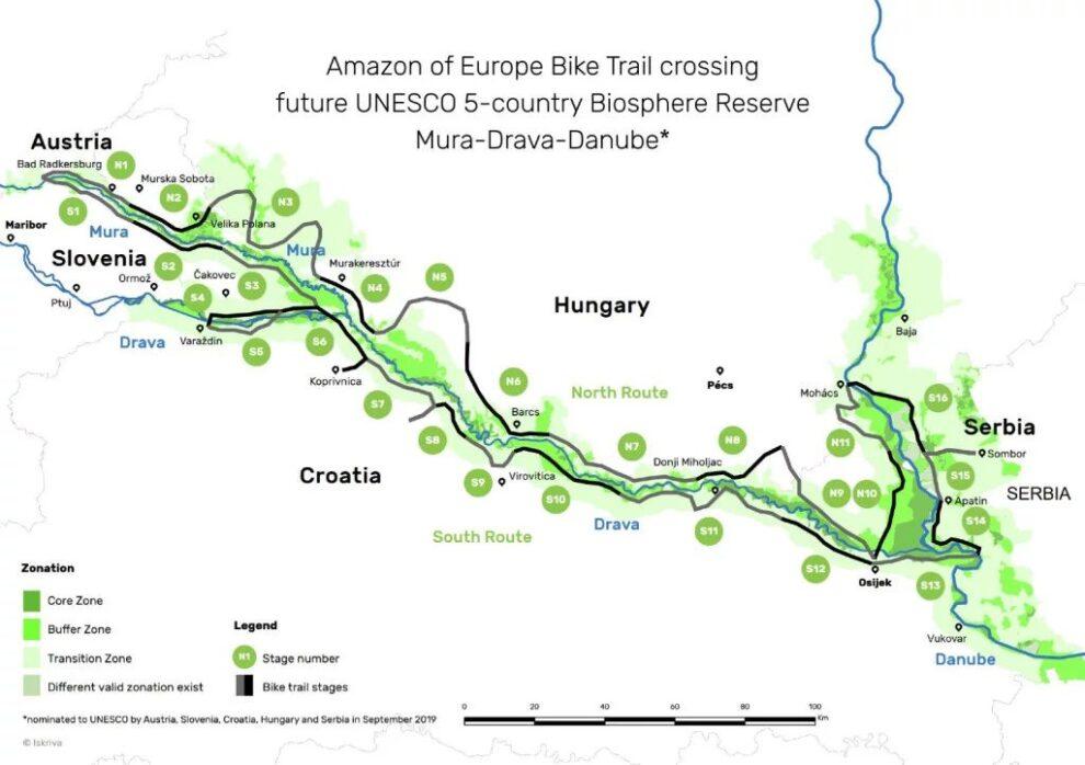 Biciklistička staza Evropski Amazon